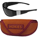Siskiyou Buckle Virginia Tech Hokies Chrome Wrap Sunglasses and Sport Carrying Case, 2CCW61SC