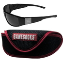 Siskiyou Buckle S. Carolina Gamecocks Chrome Wrap Sunglasses and Sport Carrying Case, 2CCW63SC