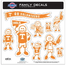 Siskiyou Buckle 2CFLD25 Tennessee Volunteers Family Decal Set Large