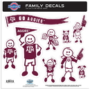 Siskiyou Buckle 2CFLD26 Texas A & M Aggies Family Decal Set Large