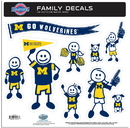 Siskiyou Buckle 2CFLD36 Michigan Wolverines Family Decal Set Large