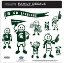 Siskiyou Buckle 2CFLD41 Michigan St. Spartans Family Decal Set Large