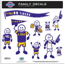 Siskiyou Buckle 2CFLD43 LSU Tigers Family Decal Set Large
