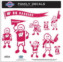 Siskiyou Buckle 2CFLD51 Wisconsin Badgers Family Decal Set Large