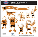 Siskiyou Buckle 2CFLD67 Missouri Tigers Family Decal Set Large