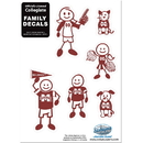 Siskiyou Buckle 2CFSD45 Mississippi St. Bulldogs Family Decal Set Small