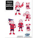 Siskiyou Buckle 2CFSD59 Mississippi Rebels Family Decal Set Small