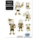 Siskiyou Buckle 2CFSD84 Purdue Boilermakers Family Decal Set Small