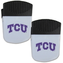 Siskiyou Buckle TCU Horned Frogs Chip Clip Magnet with Bottle Opener, 2 pack, 2CPMC112
