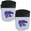 Siskiyou Buckle Kansas St. Wildcats Chip Clip Magnet with Bottle Opener, 2 pack, 2CPMC15