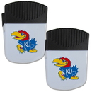 Siskiyou Buckle Kansas Jayhawks Chip Clip Magnet with Bottle Opener, 2 pack, 2CPMC21