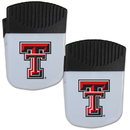 Siskiyou Buckle Texas Tech Raiders Chip Clip Magnet with Bottle Opener, 2 pack, 2CPMC30