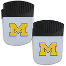 Siskiyou Buckle Michigan Wolverines Chip Clip Magnet with Bottle Opener, 2 pack, 2CPMC36
