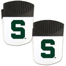Siskiyou Buckle Michigan St. Spartans Chip Clip Magnet with Bottle Opener, 2 pack, 2CPMC41