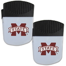 Siskiyou Buckle Mississippi St. Bulldogs Chip Clip Magnet with Bottle Opener, 2 pack, 2CPMC45