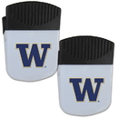 Siskiyou Buckle Washington Huskies Chip Clip Magnet with Bottle Opener, 2 pack, 2CPMC49