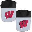 Siskiyou Buckle Wisconsin Badgers Chip Clip Magnet with Bottle Opener, 2 pack, 2CPMC51