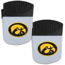 Siskiyou Buckle Iowa Hawkeyes Chip Clip Magnet with Bottle Opener, 2 pack, 2CPMC52