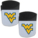 Siskiyou Buckle W. Virginia Mountaineers Chip Clip Magnet with Bottle Opener, 2 pack, 2CPMC60