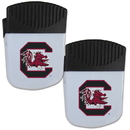 Siskiyou Buckle S. Carolina Gamecocks Chip Clip Magnet with Bottle Opener, 2 pack, 2CPMC63