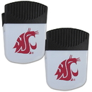 Siskiyou Buckle Washington St. Cougars Chip Clip Magnet with Bottle Opener, 2 pack, 2CPMC71