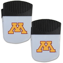 Siskiyou Buckle Minnesota Golden Gophers Chip Clip Magnet with Bottle Opener, 2 pack, 2CPMC77