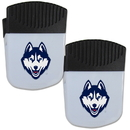 Siskiyou Buckle UCONN Huskies Chip Clip Magnet with Bottle Opener, 2 pack, 2CPMC81