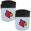 Siskiyou Buckle Louisville Cardinals Chip Clip Magnet with Bottle Opener, 2 pack, 2CPMC88