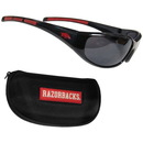 Siskiyou Buckle 2CSG12CH Arkansas Razorbacks Wrap Sunglass and Case Set