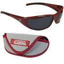 Siskiyou Buckle 2CSG13CS Alabama Crimson Tide Wrap Sunglass and Case Set