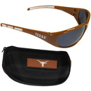 Siskiyou Buckle 2CSG22CH Texas Longhorns Wrap Sunglass and Case Set