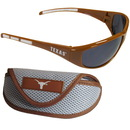 Siskiyou Buckle 2CSG22CS Texas Longhorns Wrap Sunglass and Case Set