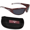 Siskiyou Buckle 2CSG26CH Texas A & M Aggies Wrap Sunglass and Case Set
