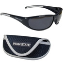 Siskiyou Buckle 2CSG27CS Penn St. Nittany Lions Wrap Sunglass and Case Set
