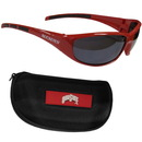 Siskiyou Buckle 2CSG38CH Ohio St. Buckeyes Wrap Sunglass and Case Set