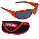 Siskiyou Buckle 2CSG3CS Nebraska Cornhuskers Wrap Sunglass and Case Set