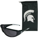 Siskiyou Buckle 2CSG41EB Michigan St. Spartans Sunglass and Bag Set