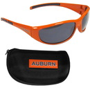 Siskiyou Buckle 2CSG42CH Auburn Tigers Wrap Sunglass and Case Set