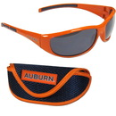Siskiyou Buckle 2CSG42CS Auburn Tigers Wrap Sunglass and Case Set
