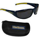 Siskiyou Buckle 2CSG60CH W. Virginia Mountaineers Wrap Sunglass and Case Set