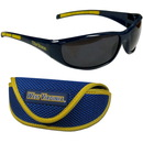 Siskiyou Buckle 2CSG60CS W. Virginia Mountaineers Wrap Sunglass and Case Set