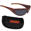 Siskiyou Buckle 2CSG61CH Virginia Tech Hokies Wrap Sunglass and Case Set