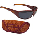 Siskiyou Buckle 2CSG61CS Virginia Tech Hokies Wrap Sunglass and Case Set