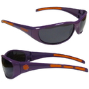 Siskiyou Buckle 2CSG69 Clemson Tigers Wrap Sunglasses