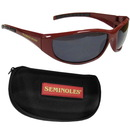Siskiyou Buckle 2CSG7CH Florida St. Seminoles Wrap Sunglass and Case Set