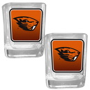 Siskiyou Buckle 2CSQP72 Oregon St. Beavers Square Glass Shot Glass Set