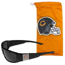 Siskiyou Buckle Chicago Bears Chrome Wrap Sunglasses and Bag, 2FCP005EB