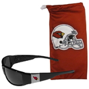 Siskiyou Buckle Arizona Cardinals Chrome Wrap Sunglasses and Bag, 2FCP035EB