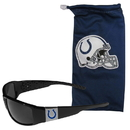 Siskiyou Buckle Indianapolis Colts Chrome Wrap Sunglasses and Bag, 2FCP050EB