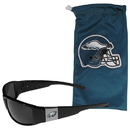 Siskiyou Buckle Philadelphia Eagles Chrome Wrap Sunglasses and Bag, 2FCP065EB